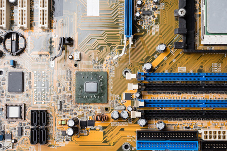 Computer circuit board, electronic technology background. Фото со стока - 85045079