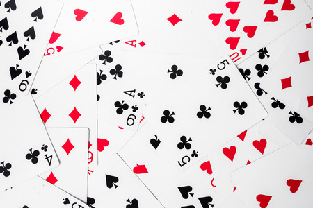 Background of Playing cards. Stock fotó
