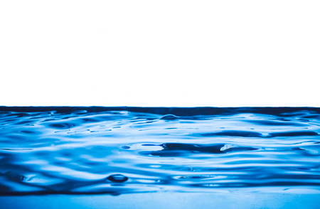 Blue wave on water surface background.