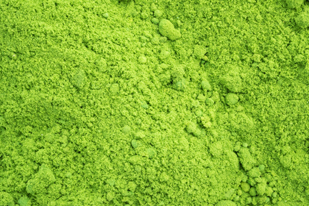 Background of Powdered green tea