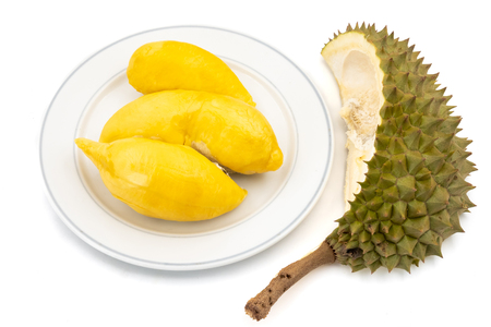King of Fruits, Durian on white background Stock Photo - 101099736