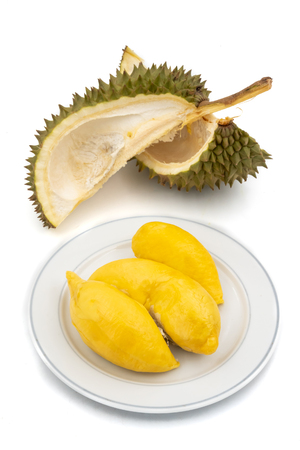 King of Fruits, Durian on white background Stock Photo - 101182912
