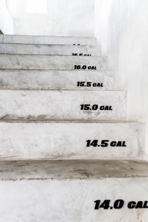 Stairs of calories burned concept