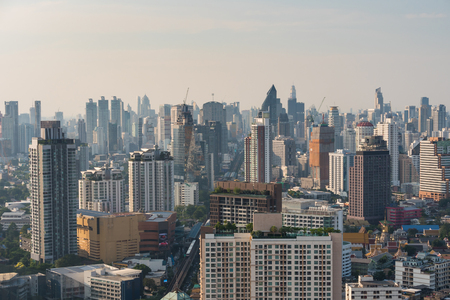 Cityscape and building of Bangkok in daytime, Bangkok is the capital of Thailand