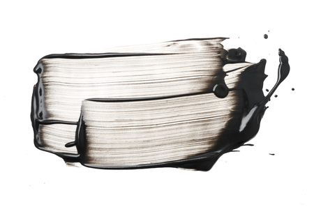 Clay or charcoal face mask stroke on white