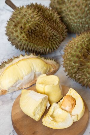 King of Fruits, Durian is a popular tropical fruit in Thailand. Stock Photo - 132053982