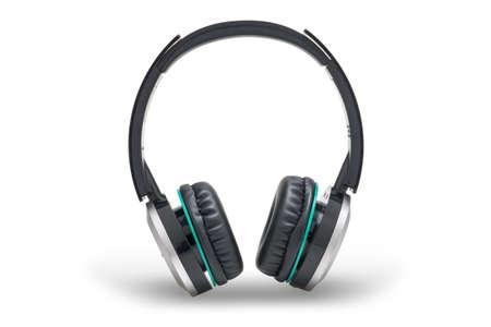 Black headphone isolated on white background