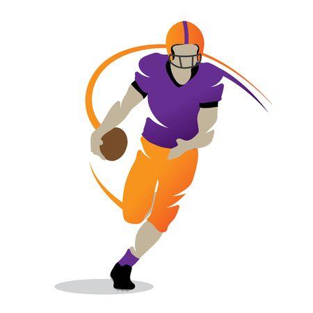 Football player silhouette vector shape