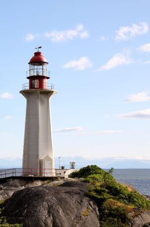 Lighthouse in North Vancouver, BC  Plenty of space in the sky for your headline or copy