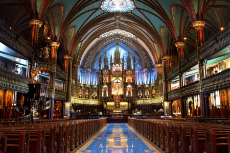 Notre-Dame Basilica in Montreal, Quebec