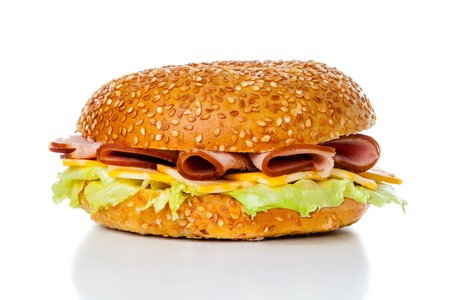 bagel: Ham and Cheese Bagel Sandwich
