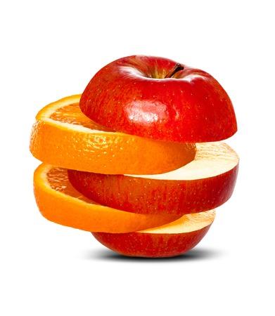 오렌지에 사과를 비교 스톡 콘텐츠