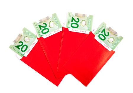 ang: Chinese New Year red packets with Canadian dollars