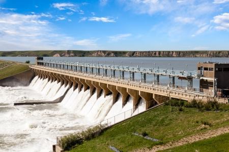 Bassano Dam nella città di Bassano, Alberta
