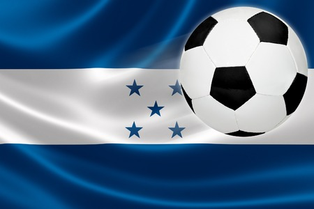 america's cup america: Ball leaps out of the flag of Honduras, where soccer is a national passion
