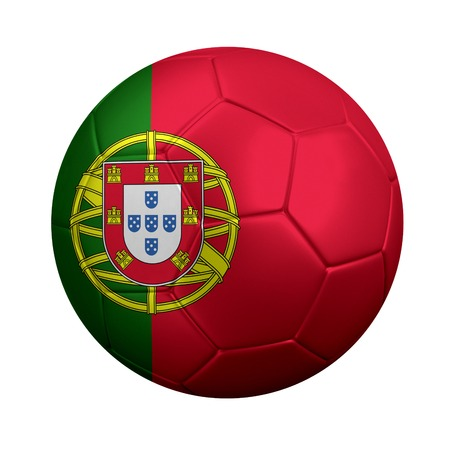 3d ball: 3D rendering of soccer ball wrapped in Portugal