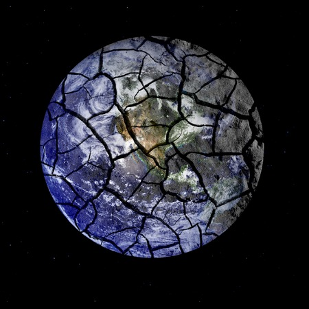 Parched planet earth signifying environmental problems and issues