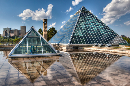 conservatory: Edmonton's most iconic public structure  The Muttart Conservatory  Editorial