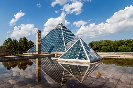 conservatory: Muttart Conservatory in Edmonton Editorial