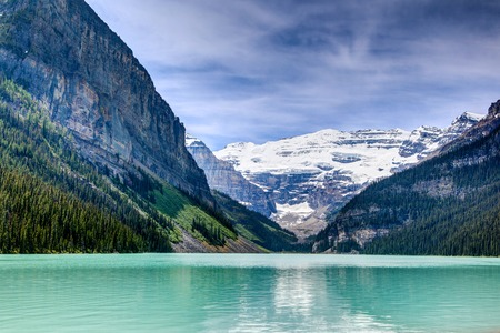 Beautiful Lake Louise in the Canadian Rockies of Alberta, Canada