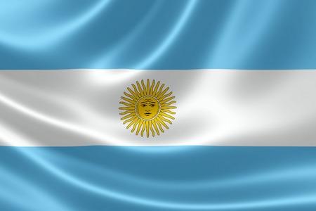 Rendering 3D della bandiera dell'Argentina sulla trama satinata. Archivio Fotografico - 30725886