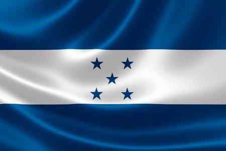 bandera honduras: Representación 3D de la bandera de Honduras en textura satinada.