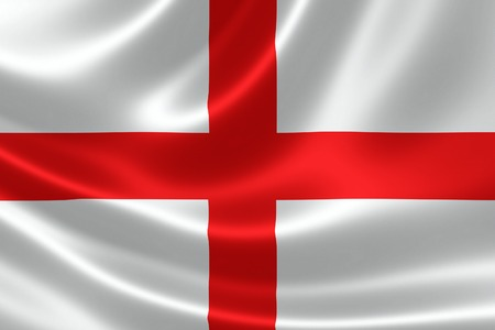 3D rendering of the flag of England on satin texture.