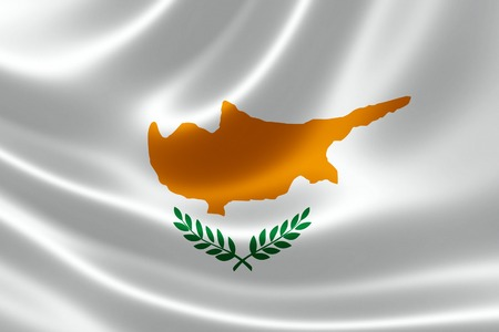 3D rendering of the flag of Cyprus on satin texture. Фото со стока