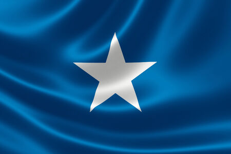 3D rendering of the flag of Somalia on satin texture.