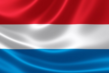 3D-weergave van de vlag van Luxemburg op satijn textuur.