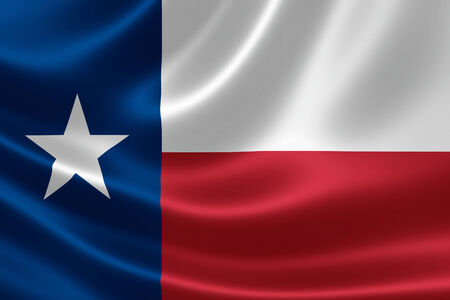 3D rendering of the flag of Texas on satin texture.