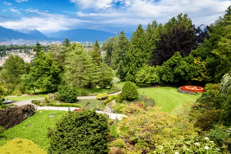 Queen Elizabeth Park in Vancouver.  Stock Photo