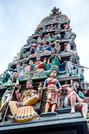 mariamman: Sri Mariamman Hindu Temple on South Bridge Road in the Chinatown District