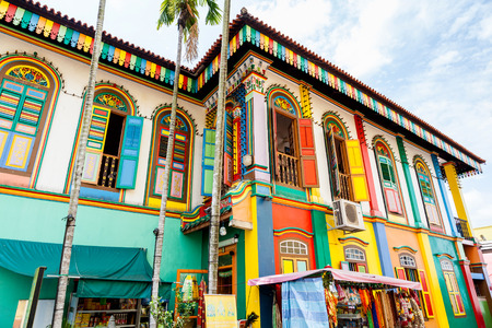 india: The colorful house of Tan Teng Niah in Singapores Little India. The history of this eightroom Chinese villa goes back to 1900 when Tan Teng Niah who was one of few prominent Chinese businessmen in Little India built it for his wife. This building is the
