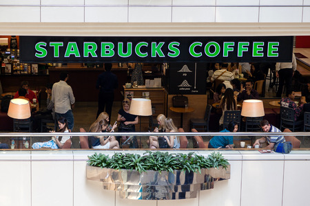 franchising: A Starbucks coffee house on Orchard Road in Singapore. Singapore was the second country outside North America to introduce Starbucks to its customers in 1996. Today Starbucks is the worlds largest coffee house with over 20000 stores in 61 countries.