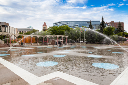 olympic symbol: The Olympic Plaza in downtown Calgary is a public park created in 1988 for the Winter Olympic Games medal ceremonies.