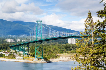 municipalities: Opened in 1938, the landmark Lions Gate Bridge is a 1,823m long suspension bridge that crosses the Burrard Inlet and connects Vancouver to the North Shore municipalities.