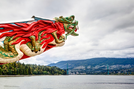 ss: Replica of the SS Empress figurehead at Stanley Park in Vancouver. The trading ship plied the regions waters from 1891-1922, carrying its commerce to Asia.