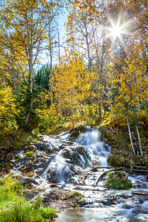 Big Hill Springs Provincial Park is located close to Calgary in Alberta. A favorite park for hiking and picnics, its series of small waterfalls and streams flow year-round over rocky tufa mounds covered with lush shrubs and grasses.