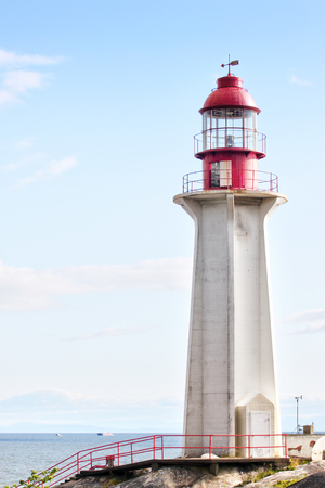 The historic Point Atkinson Lighthouse was built in 1914 overlooking Burrard Inlet in West Vancouver, Canada. Stock fotó