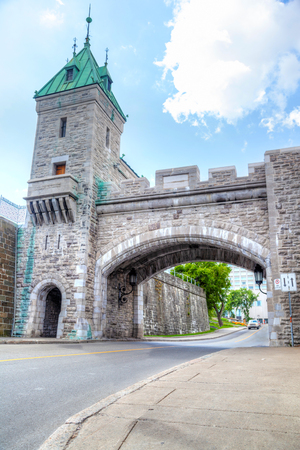 Erected by the British in 1879, Porte Kent is part of the Ramparts of Old Quebec City, the only remaining fortified city walls in North America north of Mexico. It was named after Queen Victoria's father The Duke of Kent.