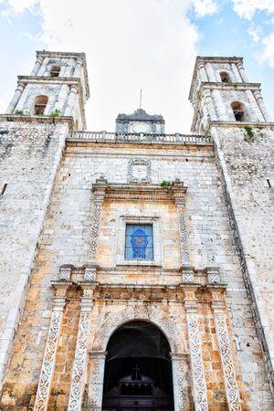 Built in 1706, the Cathedral of San Gervasio Church in Valladolid, Yucatan, Mexico, is also known as Iglesia de San Servacio.