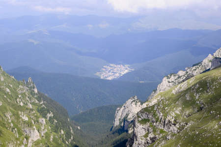 Beautiful valley in the Carpathian Mountains - Prahova valley