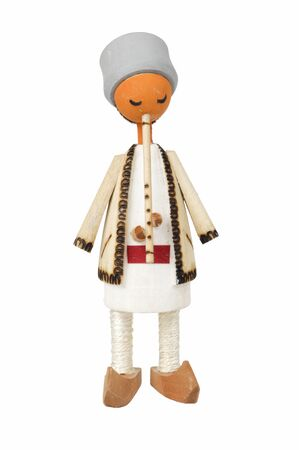 wooden doll that sings at whistle