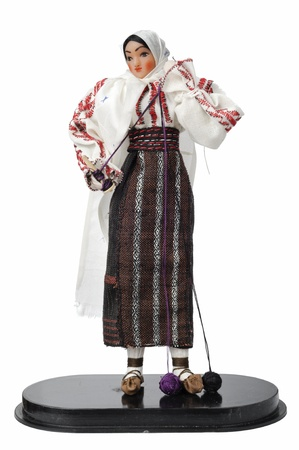 Folklore doll in traditional costume