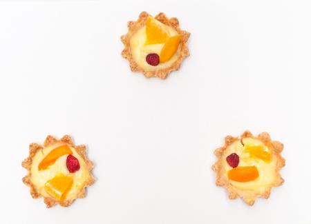 Berry, orange and apricot delicious cream tart