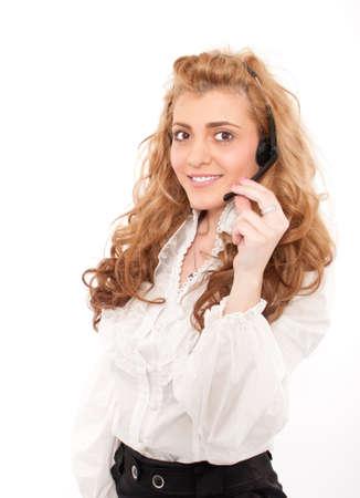 Young business female customer service representative Stock Photo - 14512710