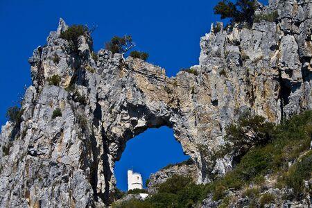 palinuro: lighthouse , palinuro , Italy Stock Photo
