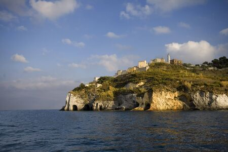 pontine: Ponza, lighthouse, italian coast Stock Photo