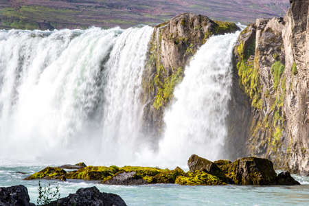 Godafoss, Myvatn, Iceland. the waterfall of the Gods in a sunny day